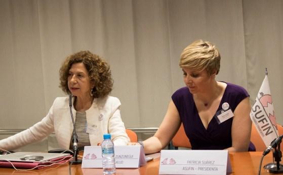 María Victoria Zunzunegui, investigadora de Finsalud junto a Patricia Suárez, presidenta de ASUFIN