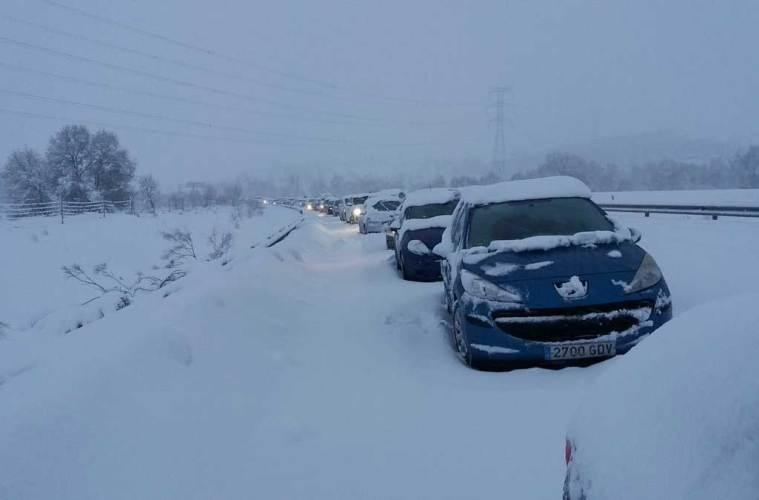 atasco, a6, nieve, demanda colectiva