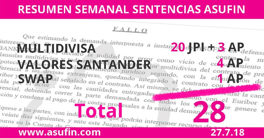 Semana de Multidivisas en ASUFIN con 27 sentencias ganadas