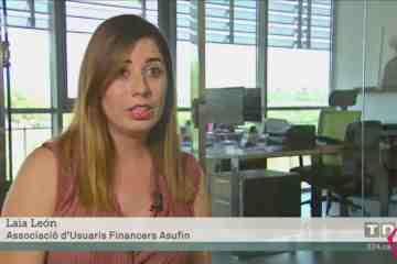 ASUFIN sobre la evolución del Euribor - TV3 - 30.08.19