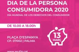 ASUFIN Illes Balears participarà aquest divendres en el Dia de la persona consumidora que organitza l'Ajuntament de Palma