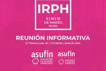 REUNIONES IRPH - ASUFIN