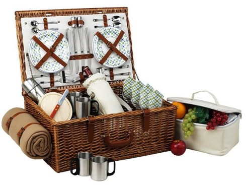 Cool Dorset Wicker Picnic Basket For The Family Picnic