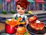 لعبة طبخ وتقديم الطعام للزبائن