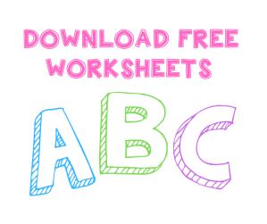 FREE ABC WORKHEETS pdf download