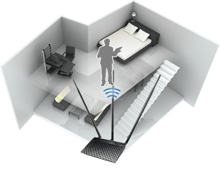 RT-N14UHP with detachable high-gain 9dBi antennas for boosted wireless range