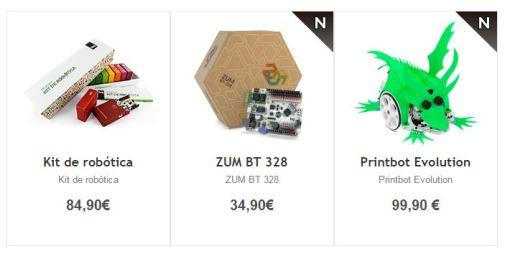 kits de robótica de bq