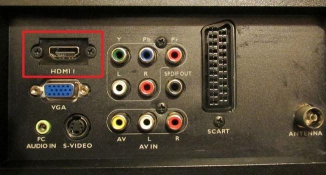 HDMI TV'de oturum açın