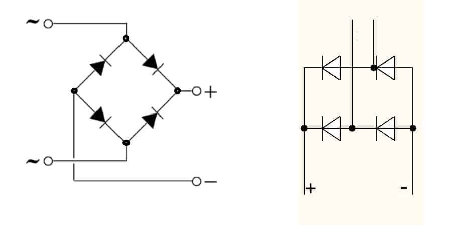 Egy dióda híd rendszere