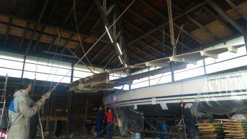 ...so haben wir Platz für die Boote im Winterlager.