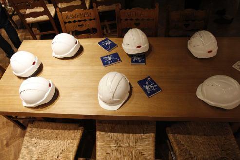 Helme der Fastnet Crew beim Seereisenschnack 2017