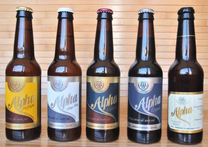 Various beers brewed in Andorra