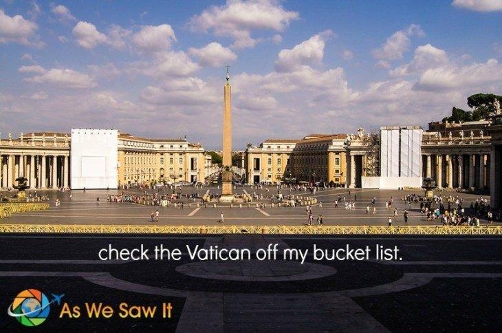 Bucket List Vatican