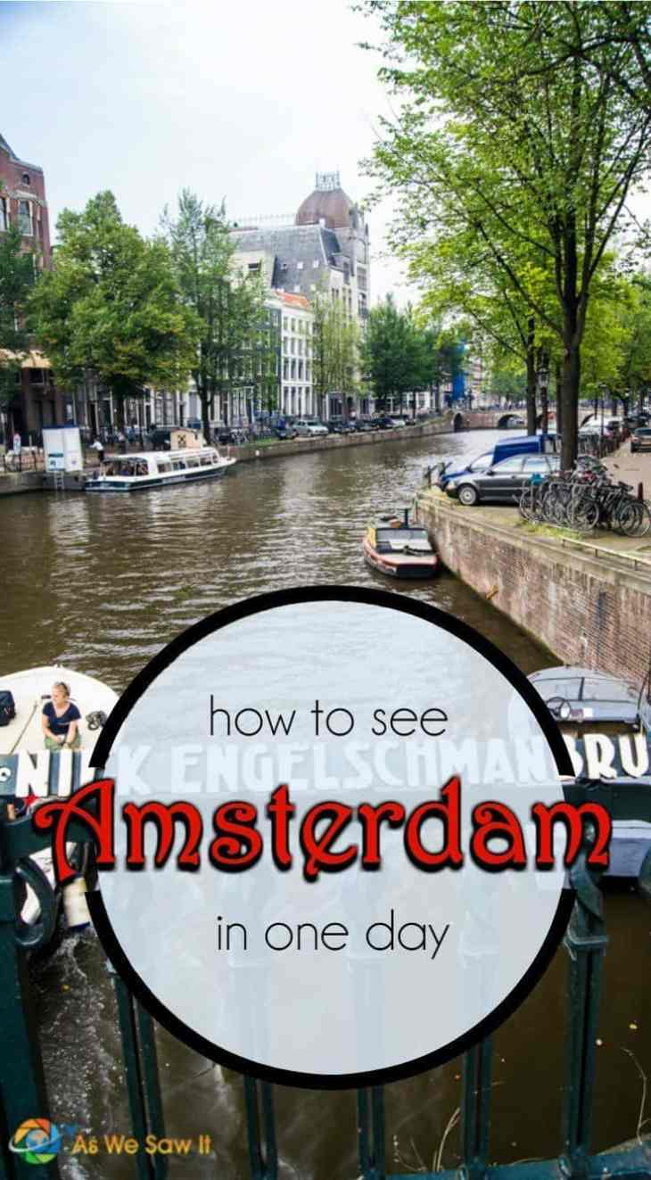 How much of Amsterdam can you actually see in one day? Here's a real-life itinerary, from museums to canals to restaurants. (Yes, we actually did this.)