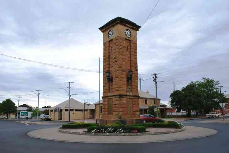War memorial in Australian outback town Coonabarabran