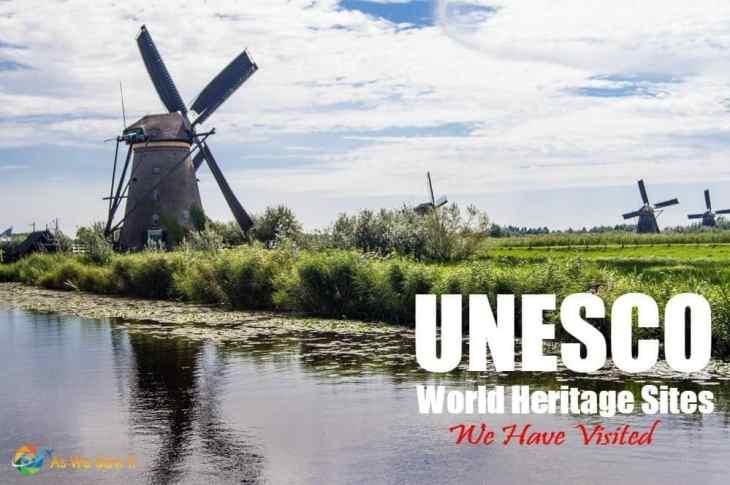 Kinderdijk windmills, one of the UNESCO sites we have visited