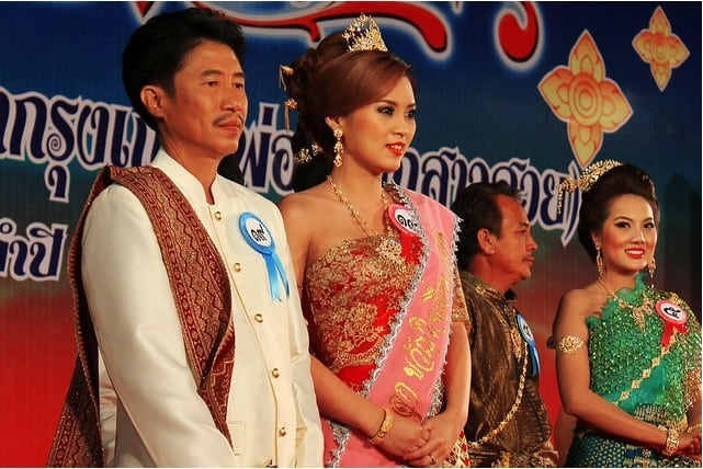 Enjoy Thailand Without Visiting The Beach Beauty Contest in Ayutthaya, Thailand