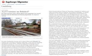 Augsburger Allgemeine vom 08.01.2015