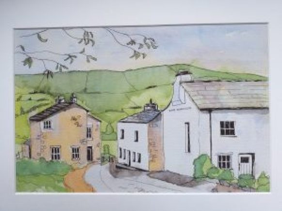 Welsh Landscape 29cm x 19 cm by Lynn Holiday