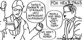Warnings about side effects of antidepressants