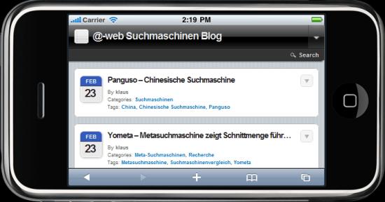 @-web für mobile Geräte