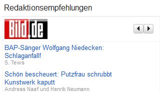 Redaktionsempfehlungen Google News