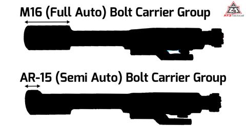 AR15 vs M16 Bolt Carrier Group