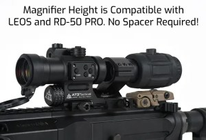 AT3 Tactical RRDM Ruggedized Red Dot Magnifier Height