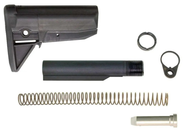 BCM Gunfighter AR-15 Stock Kit - Includes all Receiver Extension/Buffer Parts