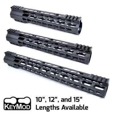 "AT3™ PROMOD-K Keymod AR-15 Free Float Handguard - 10"", 12"", & 15"" Lengths"