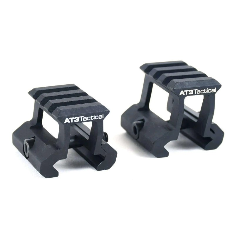 AT3 Tactical PRO-MOUNT Mini Riser Mount – .83 or 1 Inch Height Lightweight Cantilever Mount