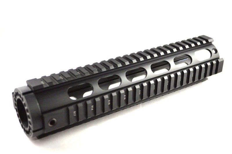 """BLEMISHED RETURN AT3 Tactical Mid-Length 10"""" Free Float Quad Rail Handguard T-Series - Oval Vent Holes"""