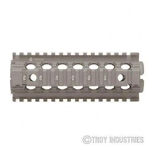 OPEN BOX RETURN Flat Dark Earth Carbine Length Battle Rail AR-15 Drop-In Quad Rail
