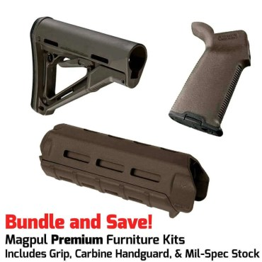 Magpul PREMIUM AR-15 Furniture Kit - CTR Stock, MOE+ Grip & M-LOK Carbine Handguard