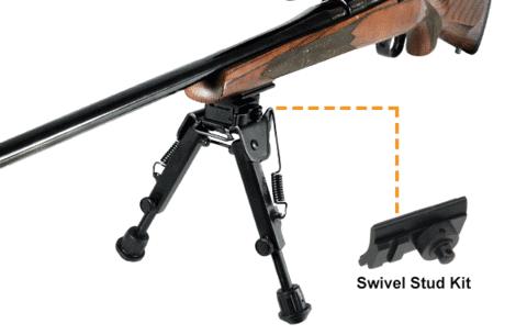 swivel stud rifle bipod