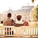 [couple in a bench]