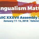 """[""""Multilingualism Matters"""" - AIIC XXXVII Assembly 2018 - poster]"""