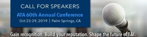 [Call for Speakers for ATA 60th Annual Conference]