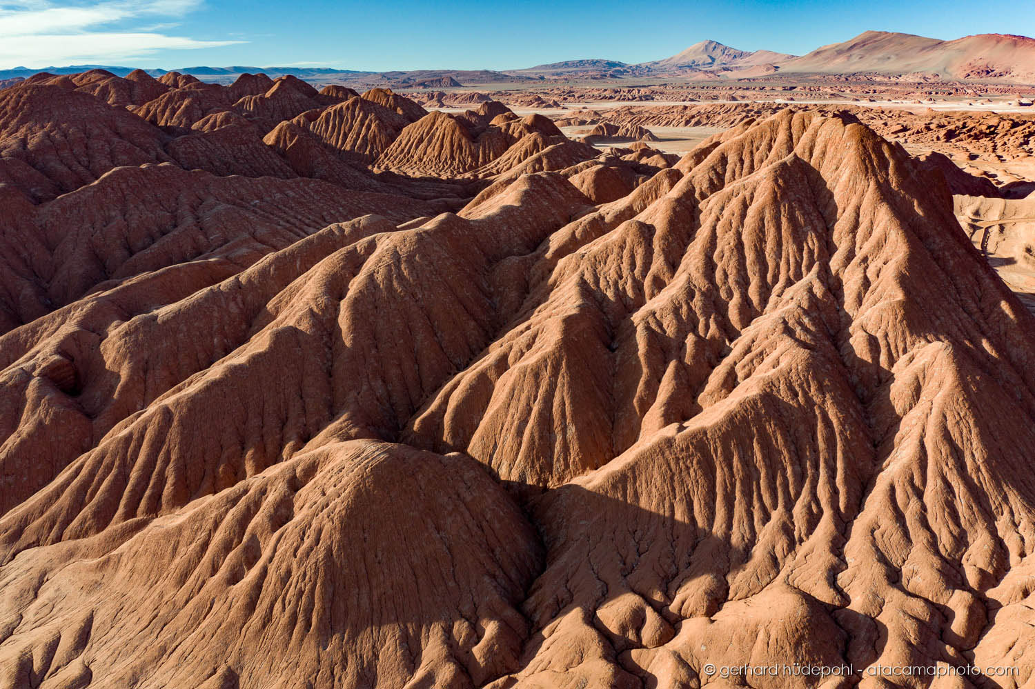 Desierto del Diabolo, an eroded deserto of clay mountains in Salta Province, Argentina