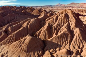 Desierto del Diabolo, an eroded desert of clay mountains in Salta Province, Argentina