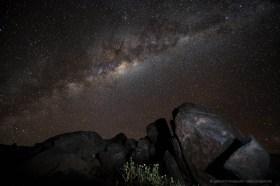 The night sky above the Atacama desert is known to be extremely clear and dark, perfect for star gazing.
