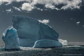 Iceberg impression at the coast of South Georgia Island