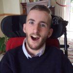 Owen McGirr in his wheelchair
