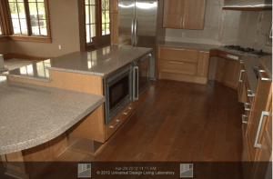 oven and microwave are mounted in the lower cabinets