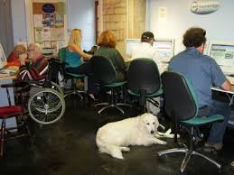 internet cafe with disabled users