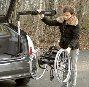 carolift 40 Boot Hoist is suitable for most standard self propelling wheelchairs