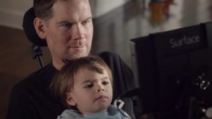 Steve Gleeson and his son