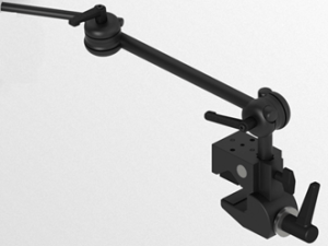Light 3D Table mount with two tubes and two joints with levers