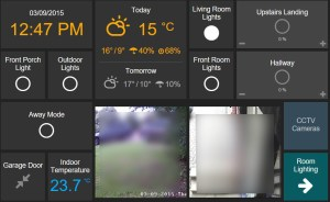 Screen shot of Openhab UI