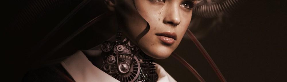 digital illustration of robot girl - steampunk vibe